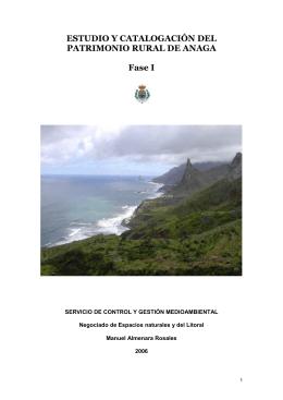 Estudio y catalogación del patrimonio rural de Anaga.