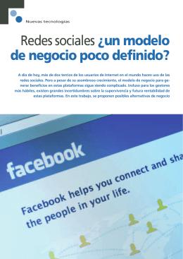 Redes sociales ¿un modelo de negocio poco definido?