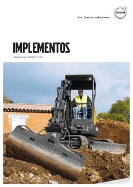 Folleto de implementos de las excavadoras compactas Volvo