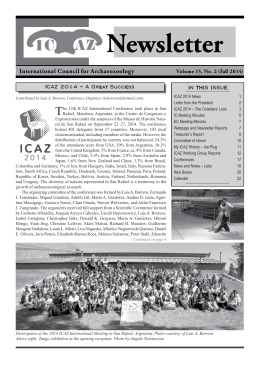 Fall 2014 newsletter () - Alexandria Archive Institute