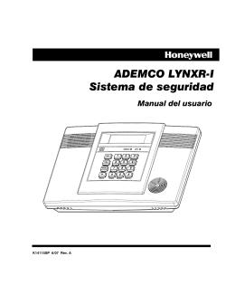 ADEMCO LYNXR-I Sistema de seguridad Manual del usuario