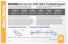 601/602Service for 2015 UNLV Football Season