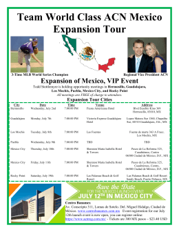 Team World Class ACN Mexico Expansion Tour