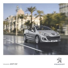 PEUGEOT 207 CC - Peugeot Argentina