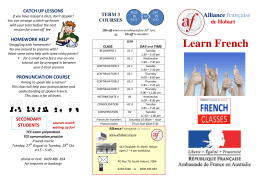 Learn French - Alliance Française de Hobart Inc.