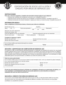 Formulario de Certificación Leo a León