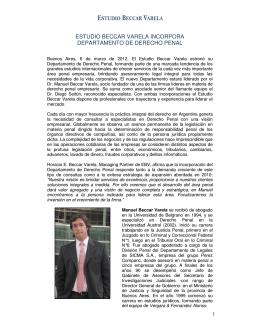 estudio beccar varela incorpora departamento de derecho penal
