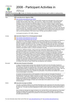 Activity Summary Report 2008