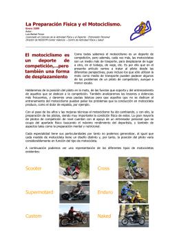 Preparación Física y Motociclismo
