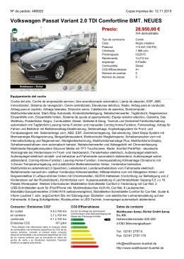 Volkswagen Passat Variant 2.0 TDI Comfortline BMT. Kombi Precio