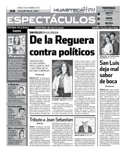 espectáculos - Huasteca Hoy