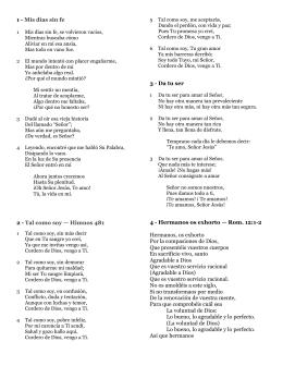 1 - Mis días sin fe 2 - Tal como soy — Himnos 481 3
