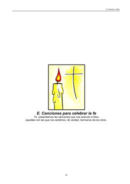 E. Canciones para celebrar la fe