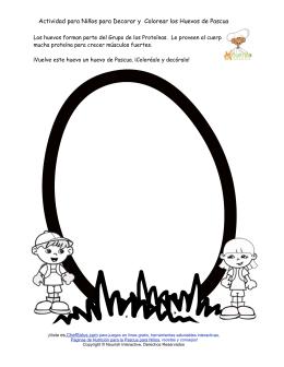 Actividad para Niños para Decorar y Colorear los Huevos de Pascua