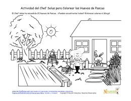 Actividad del Chef Solus para Colorear los Huevos de Pascua