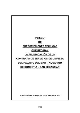 PLIEGO PRESCRIPCIONES TECNICAS CTO LIMPIEZA
