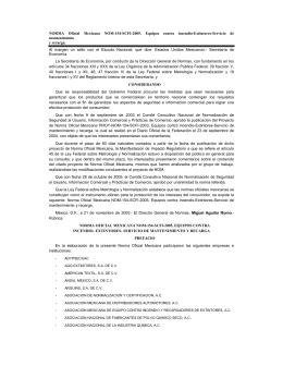 NORMA Oficial Mexicana NOM-154-SCFI