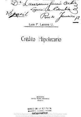 Crédito hipotecario - Actividad Cultural del Banco de la República