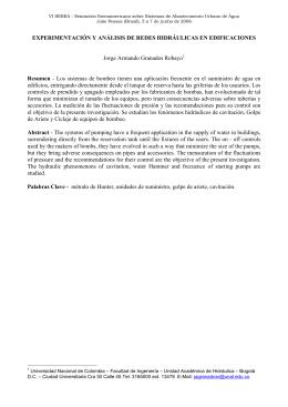 experimentación y análisis de redes hidráulicas en