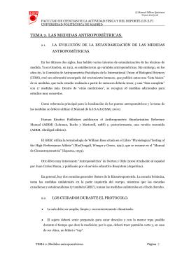 TEMA 2. LAS MEDIDAS ANTROPOMÉTRICAS.