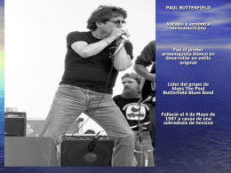 PAUL BUTTERFIELD Vocales y armónica