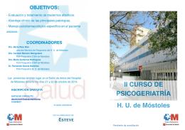 Descargar Díptico II CURSO PSICOGERIATRÍA
