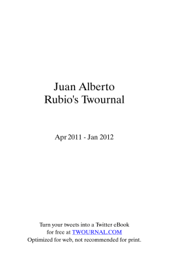 Juan Alberto Rubio`s Twournal