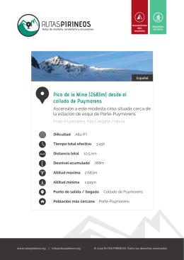 Pico de la Mina  desde el collado de Puymorens