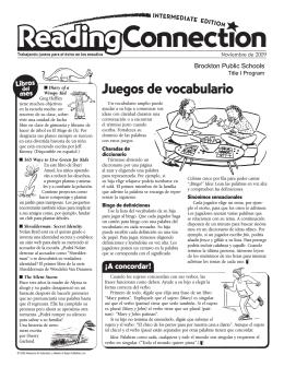 Juegos de vocabulario - Brockton Public Schools