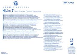 REF CP701 With Femoral Cement Pressuriser