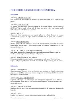 ACTIVIDADES Y JUEGOS DE EDUCACIÓN FÍSICA