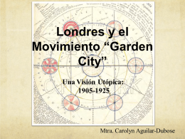 "Londres y el movimiento ""Garden City"""