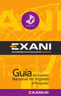 Guía EXANI-III 2015