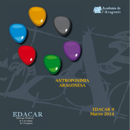 antroponimia aragonesa - Academia de l`Aragonés