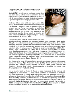 OLGA TAÑON BIO updated Feb2012 ESPAÑOL
