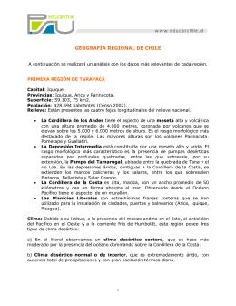 GEOGRAFÍA REGIONAL DE CHILE