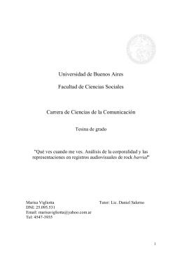 Universidad de Buenos Aires Facultad de Ciencias Sociales