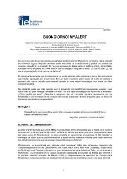 BUONGIORNO! MYALERT - IE multimedia documentation