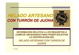 Proceso de certificación para el helado artesano con Turrón de Jijona