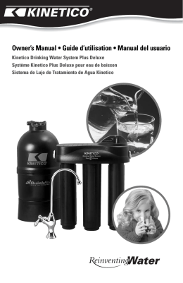 Kinetico Drinking Water System Plus Deluxe