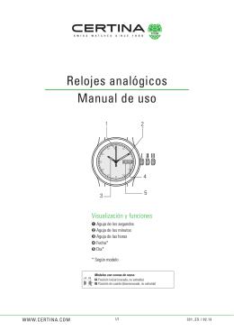 Relojes analógicos Manual de uso
