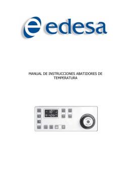 manual de instrucciones abatidores de temperatura