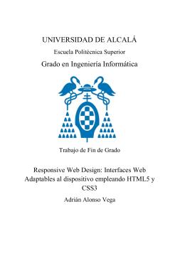 Responsive Web Design: - Universidad de Alcalá