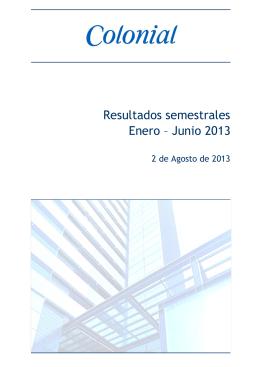 Informe 2T 2013