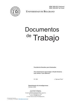 de Trabajo - Universidad de Belgrano