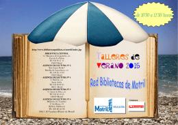 Talleres Verano 2015 Red Municipal de Bibliotecas