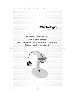 Guia do usuário e de instalação Série MS9500