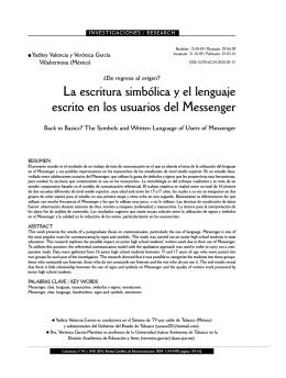 La escritura simbólica y el lenguaje escrito en los usuarios - e-Lis