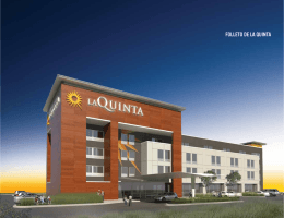 FOLLETO DE LA QUINTA - La Quinta Inns & Suites