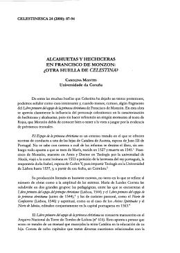 Alcahuetas y hechiceras en Francisco de Monzón: ¿otra